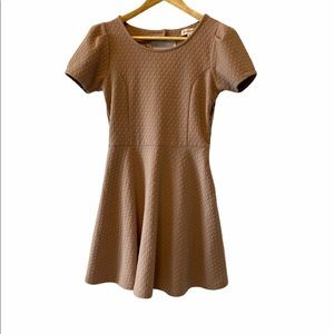 Nude Babydoll Short Sleeve Short Flirty Dress M